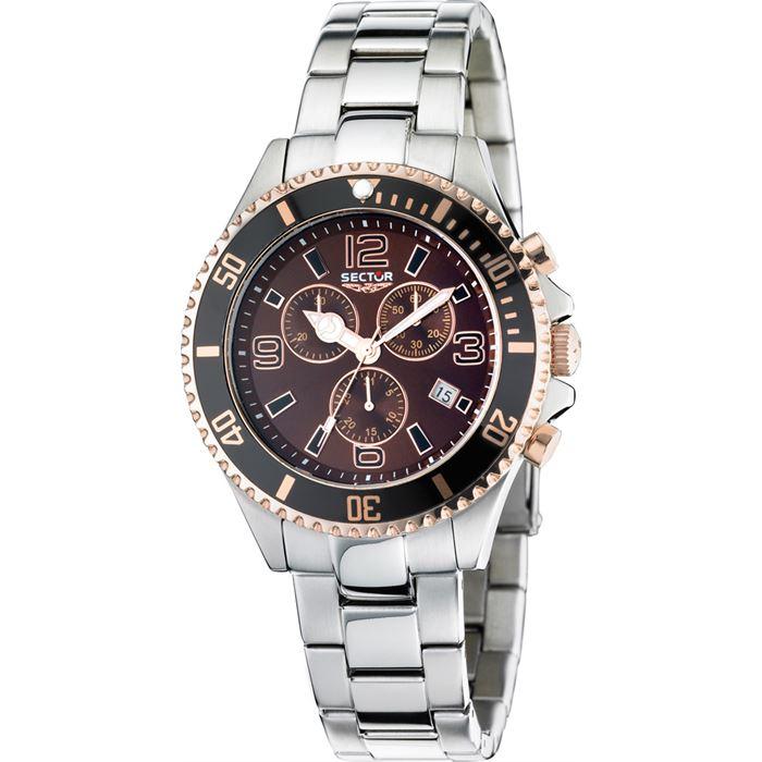 Orologio uomo Sector mod 230, cronografo, cinturino acciaio (R3273661004)
