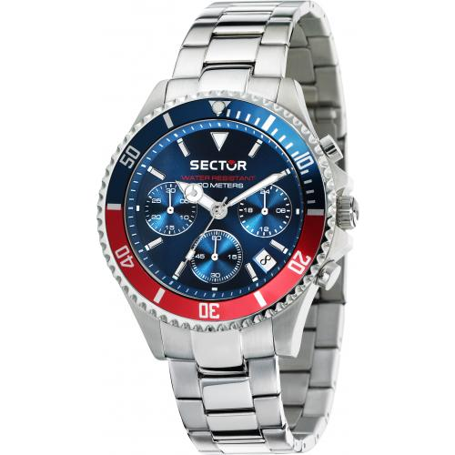 Orologio uomo Sector mod 230, cronografo, cinturino acciaio (R3273661008)