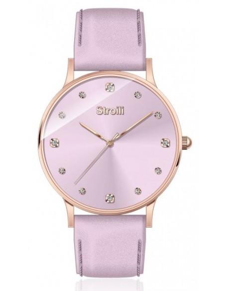 più amato a7136 ef1c3 Orologio donna Stroili, Essential Collection, acciaio Rosè, cinturino PELLE  glicine (SR-X2472L/07)