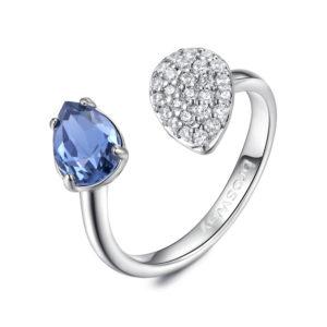 130709300e4eaf Anello Donna, BROSWAY gioielli, collezione affinity, bianco con pietra blu  e goccia zirconata, cod ( BFF44 )