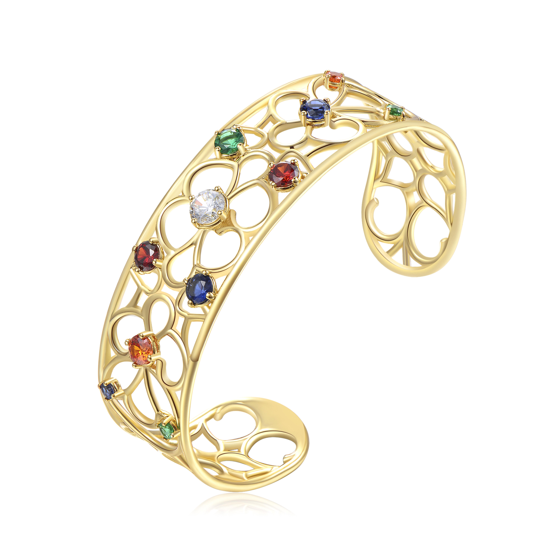 selezione migliore a9fa9 04a45 Bracciale Donna, BROSWAY gioielli, collezione Corinto, color oro giallo con  pietre colorate, rigido, cod ( BOI12 )